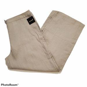 Animale khaki 100% Linen wide leg pants size 16